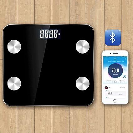 zhihong Digital grasa corporal escala, Bluetooth analizador de grasa corporal báscula de baño syncyour peso