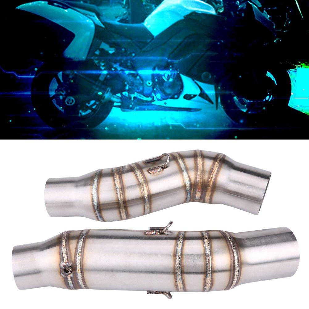 1 par de conectores de adaptador de tubo de conexi/ón mediana de escape para moto de 51 mm para Z1000 2010-2014