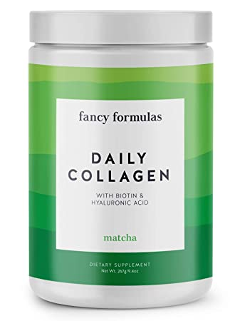 Fancy Formulas Daily Collagen Protein Powder: Grass-fed Collagen Peptides with Biotin, Hyaluronic