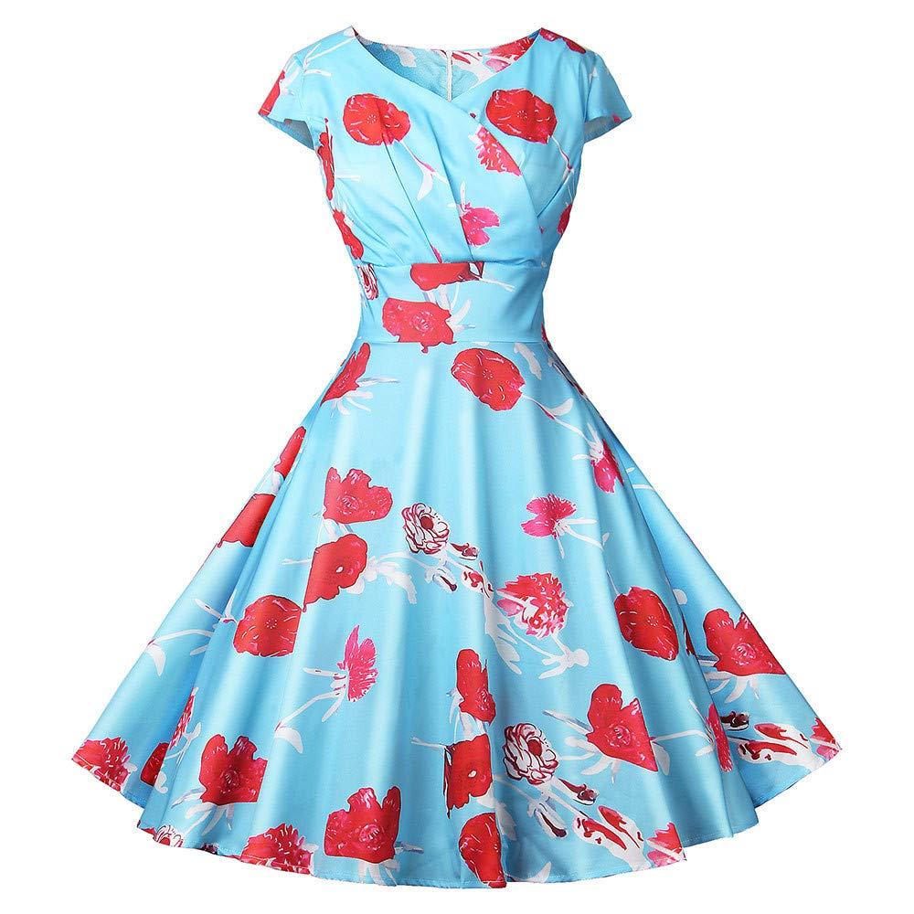 Beladla Vestido Invierno Mujer Largos Hepburn Vintage Vestido ...