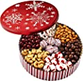 Christmas Holiday Chocolate Gift Basket - Gourmet Food Gifts Prime Delivery - Chocolate & Nut Gift Box, Assortment Tray - Birthday, Sympathy, Get Well, Men, Women & Families - Bonnie & Pop