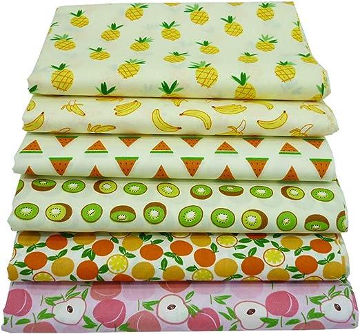 Paquetes de telas acolchadas de grasa de 6 piezas, tela de algodón ...