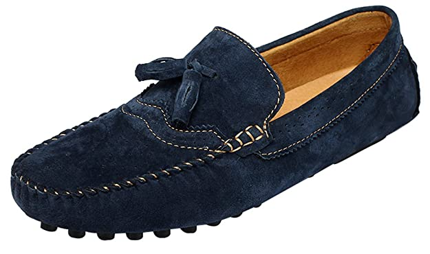 Amazon.com | Abby 0073 Mens Stylish Casual Loafers Moccasins Multi-Functions Slip-on Driver Work Leather Slippers | Loafers & Slip-Ons