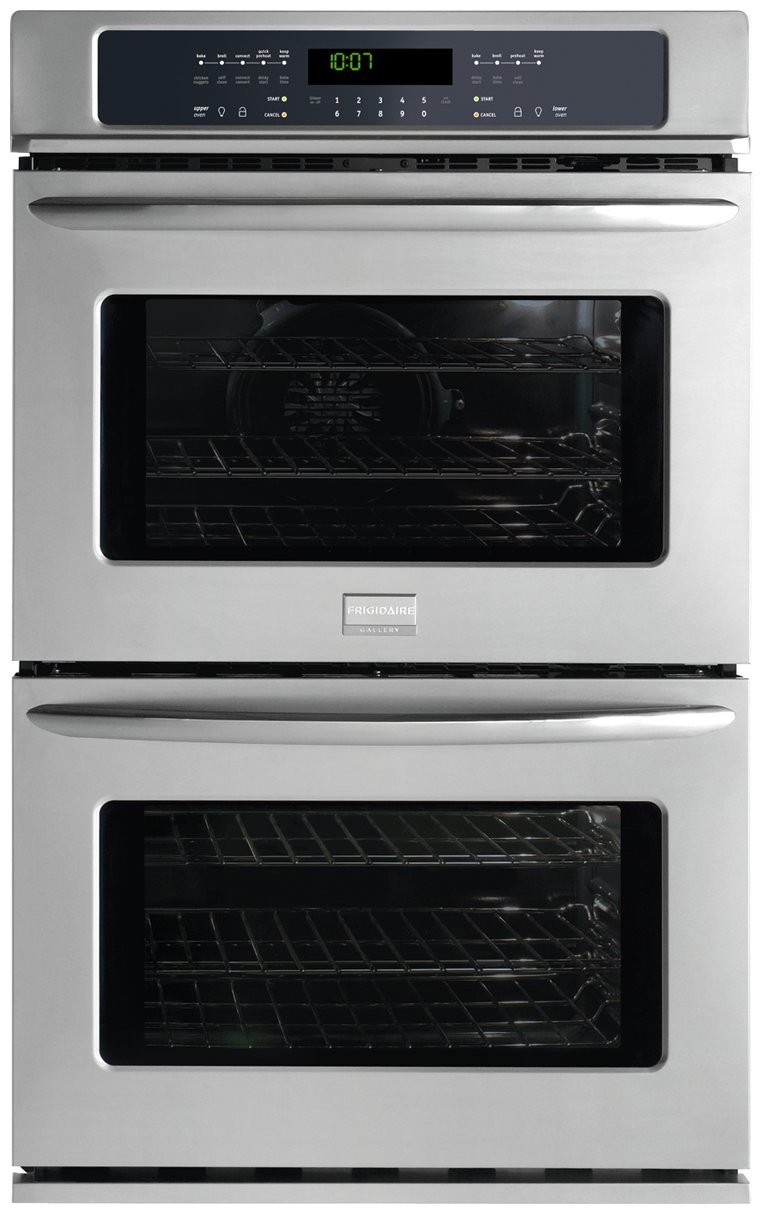 FGET3045KF Gallery Series 30'' Double Electric Wall Oven with 4.2 cu. ft. Upper True Convection Oven Convection Conversion One-Touch Self Clean and Star-K Certified Stainless