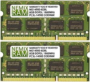 NEMIX RAM 16GB 2X8GB DDR3L-1866 Compatible Memory for Apple iMac Late 2015 17,1 Retina 27