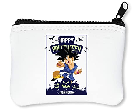Happy Halloween from Gohan Dragon Ball Anime DBZ Jack o Lantern Billetera con Cremallera Monedero Caratera