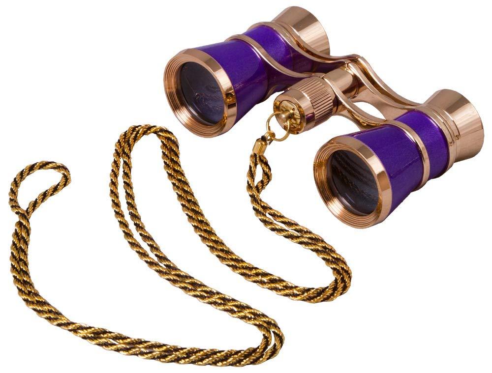 Levenhuk Broadway 325C Amethyst Opera Glasses with a Chain