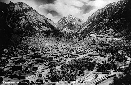 Ouray, Colorado - Panoramic View of Town, Mt Abram Photograph Collectible Art Print, Wall