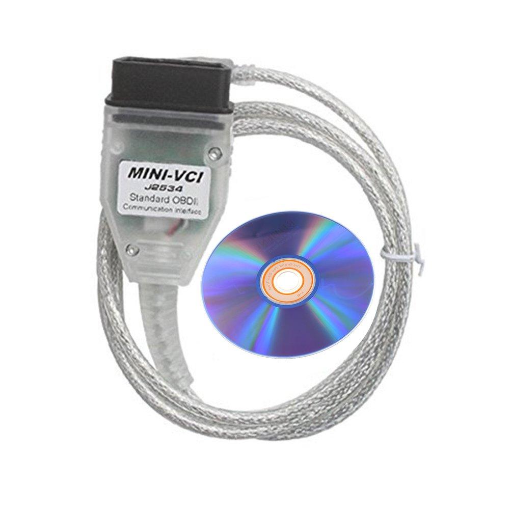 DIAGKING Toyota Techstream Diagnostic Cable Mini VCI J2534 OBD Scanner V2.0.4 for Toyota Lexus TIS Techstream