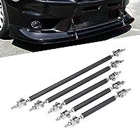 Deals on 2-Pack KKmoon Bumper Lip Splitter Strut Tie Bar Support Rod