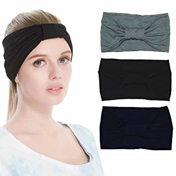 Qing Outdoor Women s Sweat Wicking Workout Headbands Head Wrap Best Looking  Head Scarf Headband for Sports 570953919d