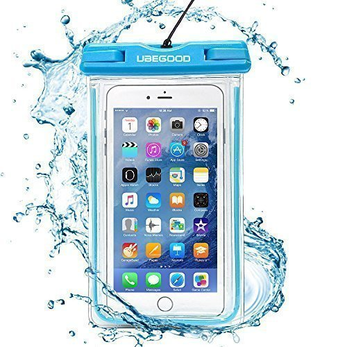 Ubegood Impermeable Bolsa IPX8 Certificado funda impermeable móvil para iPhone SE, iPhone 6/6s/plus,Samsung Galaxy S7/S6/S5,S7 Edge,LG, y otro hasta 5.9...