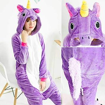 JIAWEIDAMAI Pijama Kigurumi Unicornio Animal Adulto Onesies ...