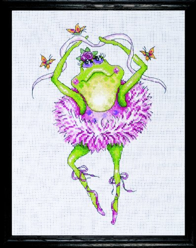 Design Works Crafts Counted Cross Stitch, Frog Dancer, 7 by 10 inches (Dancer Cross Stitch)