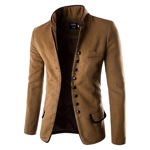 Manteau court homme laine