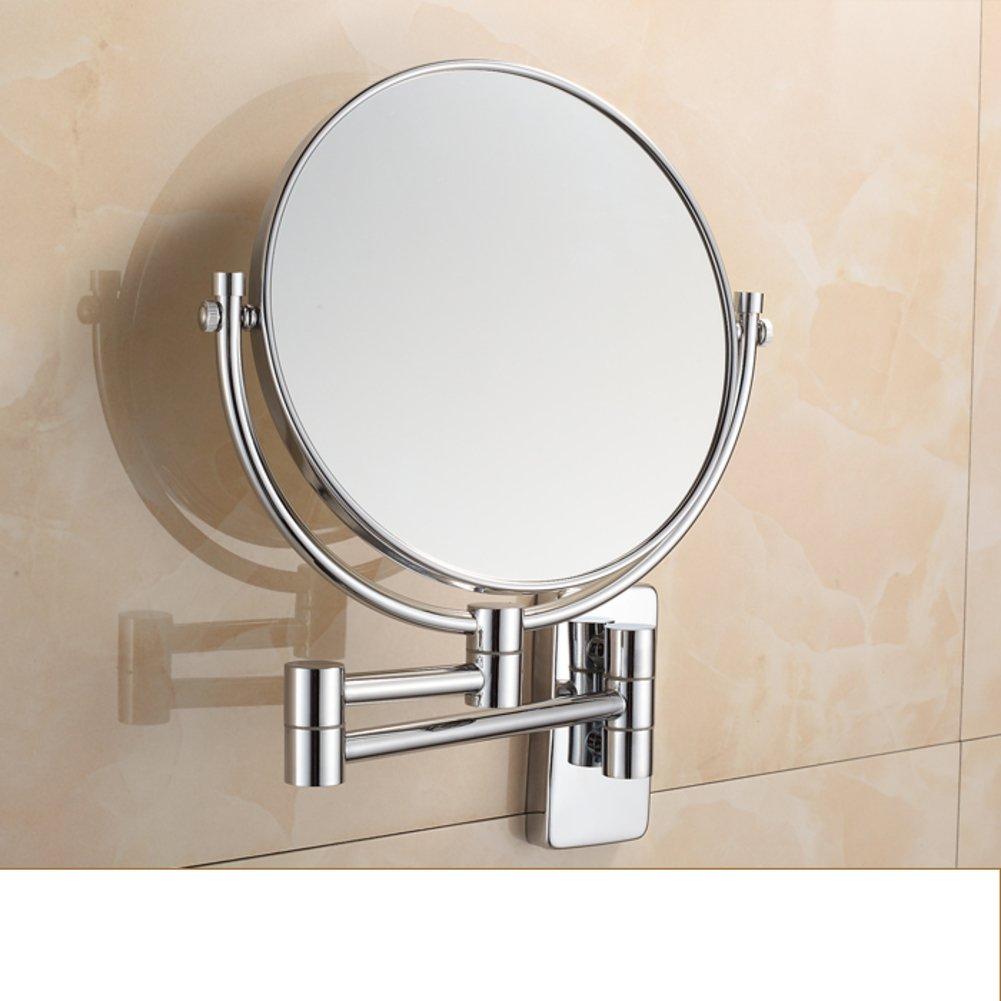 high-quality cosmetic mirror/Bathroom bathroom mirror/Two-sided wall mounted folding telescopic magnifying endoscopy-B
