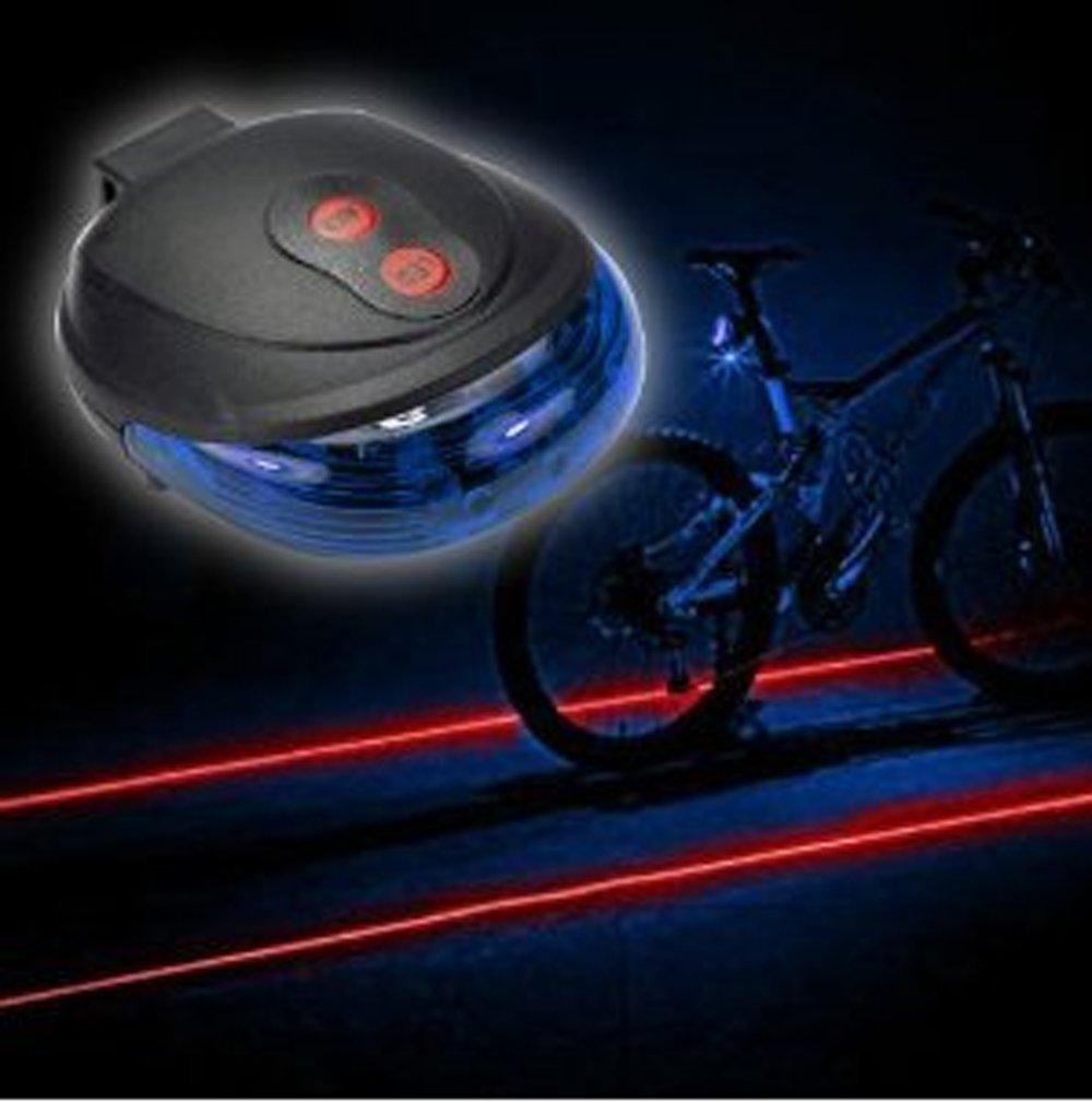 TOP YAO 5led+2laser Cycling Safety Bicycle Rear Lamp Waterproof Bike Laser Tail Light Headlight Warning Lamp Flashing Blue