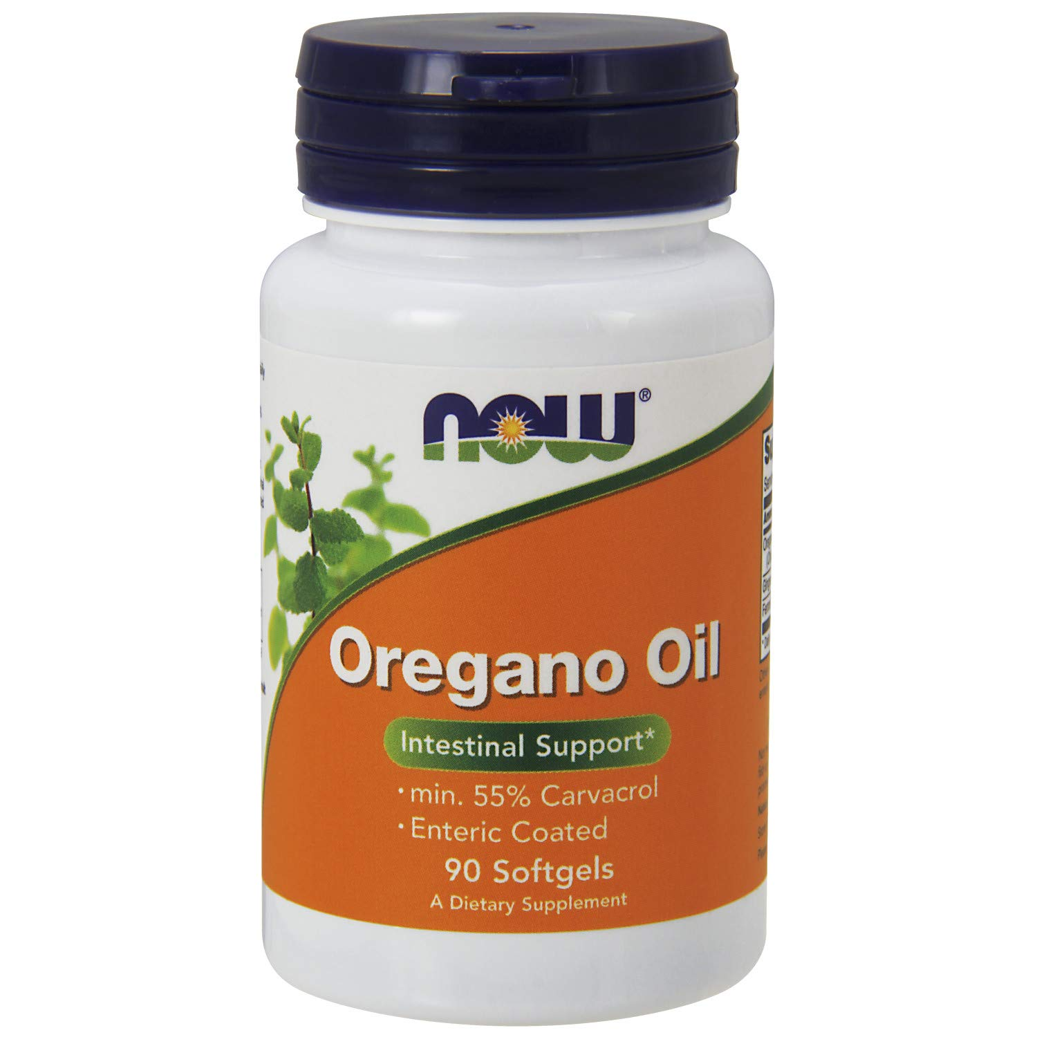 NOW Supplements Oregano Oil with Ginger and Fennel Oil Enteric Coated, 90 Softgels