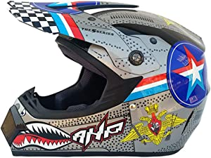 Adult Motocross Motorcycle Helmet Off-Road Scooter ATV Helmet Mountain Bike Full Face Cycling Helmet (S-XL)