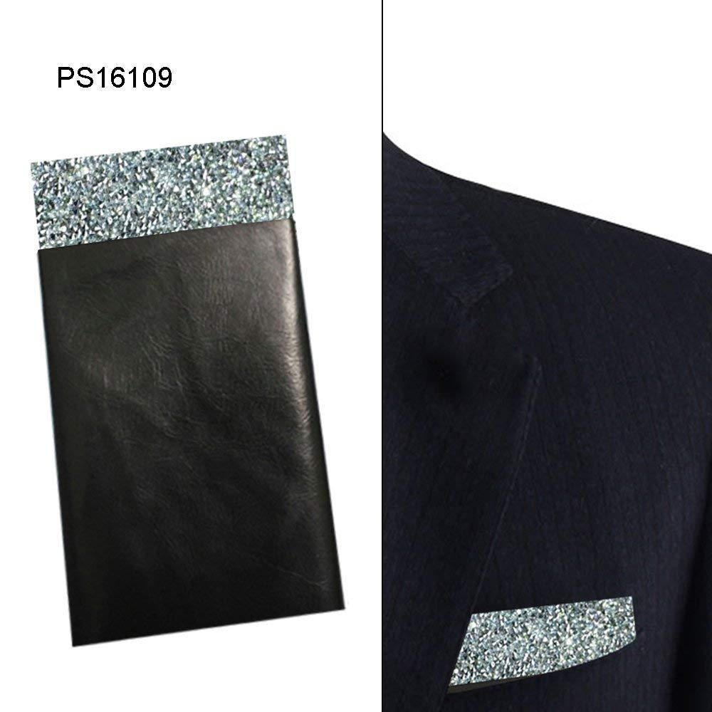 Silver Pocket Square, Sparkle silver pocket square, Rhinestones Pocket square, Dream Up Idea