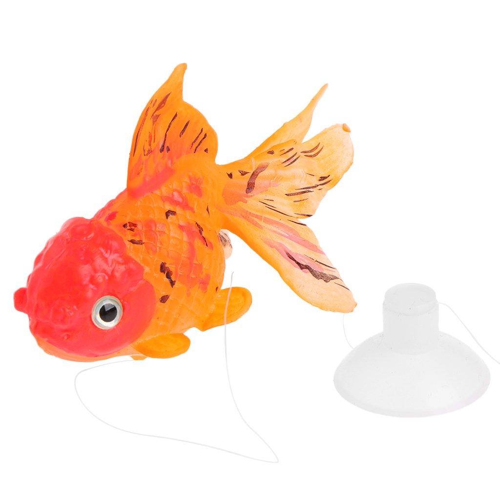 TOOGOO Aquarium Orange Plastic Goldfish Ornament Aquarium Decoration 10 pcs