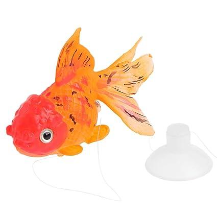 Dabixx Adorno de acuario artificial con forma de pez dorado que ...