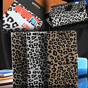 New Arrival Luxury Leopard Wallet Pu Leather Case For Samsung Galaxy Note3 III N9000 Flip Stand Case Card Holders Free Ship --- Color:White