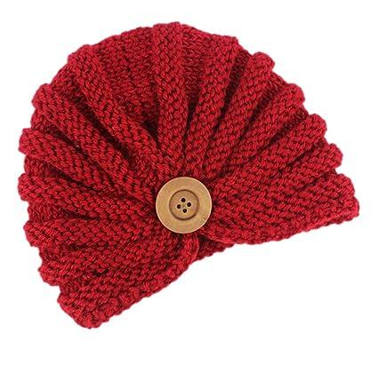 Leisial Cappello di Lavoro a Maglia per Bambini di Fibbia per Bambini  Esotici Rooso cbe48a86ee2d