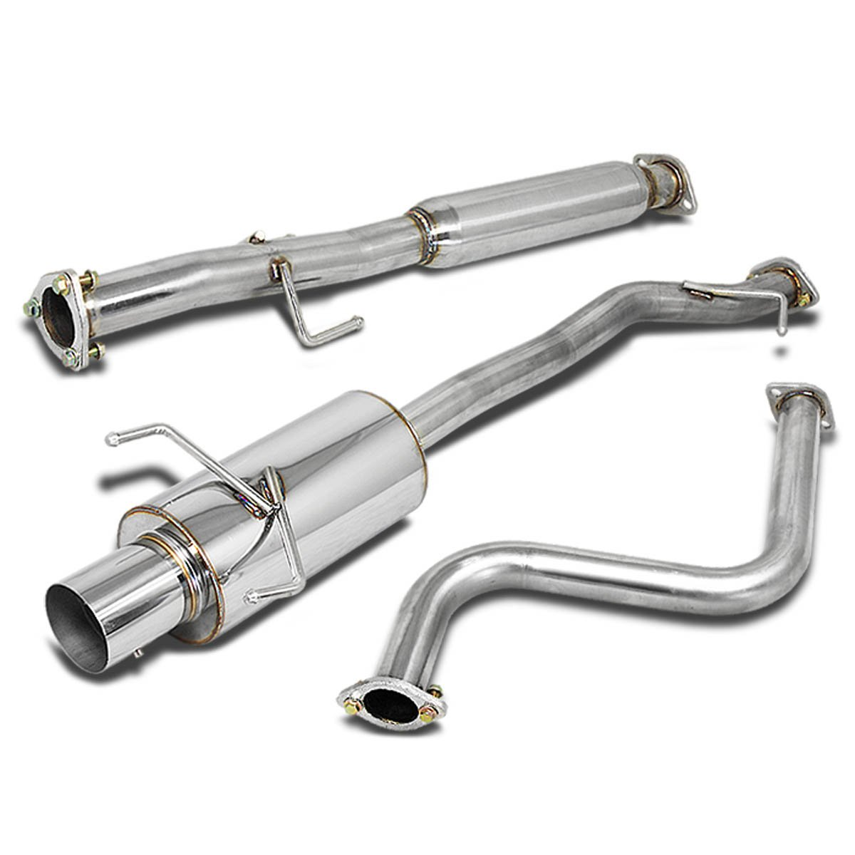 For Honda Accord Stainless Steel 4'' Muffler Tip Catback Exhaust System - 4th Gen CB7 CB9 F22