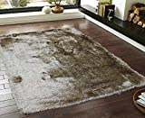 Glitter Shag Shaggy Furry Fluffy Fuzzy Sparkle Soft Modern Contemporary Thick Plush Soft Pile Yellow Gold White Rust Two Tone Area Rug Carpet Bedroom Living Room 5×7 Sale Discount ( Harmony Gold ) Review