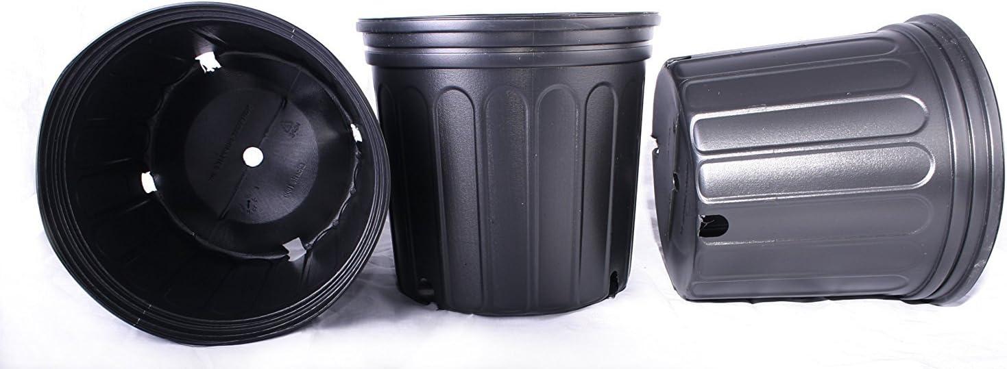 12 New Plastic Nursery 3 Gallon Trade Pot ~ Actual Volume: 2.296 Gallons