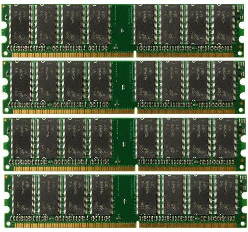 4GB 4X 1GB DDR PC3200 4 GB PC 3200 400 LOW DENSITY DESKTOP MEMORY RAM DUAL KIT