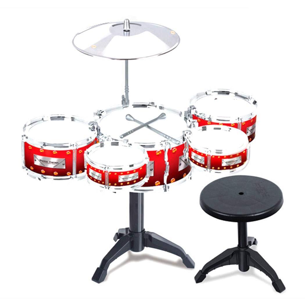 nurrat Simulation Jazz Drum Hitting Drums Children Musical Instruments Toys Set Drums & Percussion by nurrat