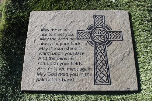 Sandblast Engraved Decorative Stepping Stone Inspirational Irish Blessing