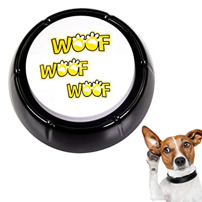 WOOF Button - Dog Barking Sound Button Features 10 Different Dog Barking -Talking Novelty Gift with Funny Sound Clips: Toys & Games [5Bkhe1003410]