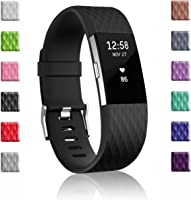 for Fitbit Charge 2 Bands, Soulen Silicone Adjustable Replacement Wristband for Fitbit Charge 2 Smart Watch Heart Rate Fitness Wristband Small Large