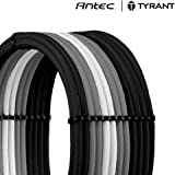 Antec Sleeved Cable, Power Supply Cable Extension Kit, ATX 24-pin/PCI-e 8-pin,6-pin/EPS 4+4-pin, Special Black Sleeved Cables Curve Design