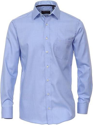 Casamoda Camisa estructurada sin Plancha Azul Claro Oversize ...