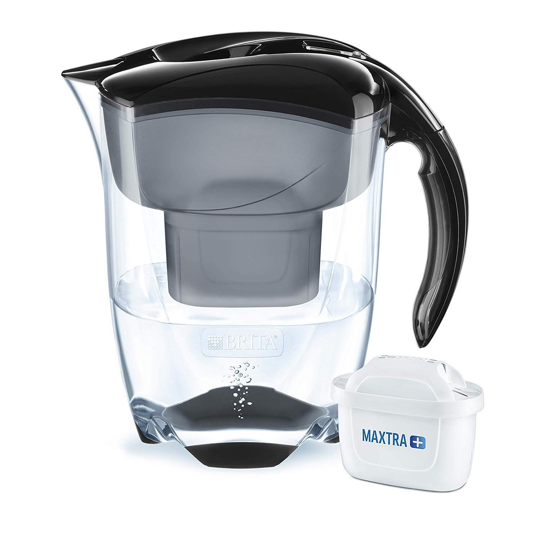 BRITA Elemaris XL Water Filter Jug and Cartridge Black