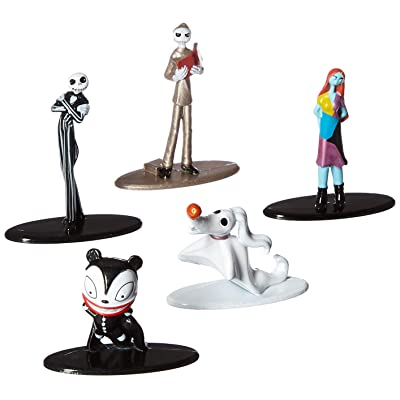 "Jada Nano Metalfigs 30042 Disney Tim Burton's The Nightmare Before Christmas Metals Die-Cast Collectible Toy Figures 5 Pack, 1.65"", Multicolor: Toys & Games"