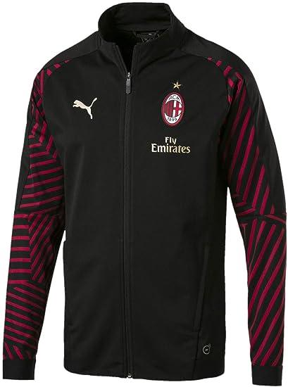 a1a6febf25b Puma Mens AC Milan Stadium Jacket with Sponsor  Amazon.co.uk  Clothing