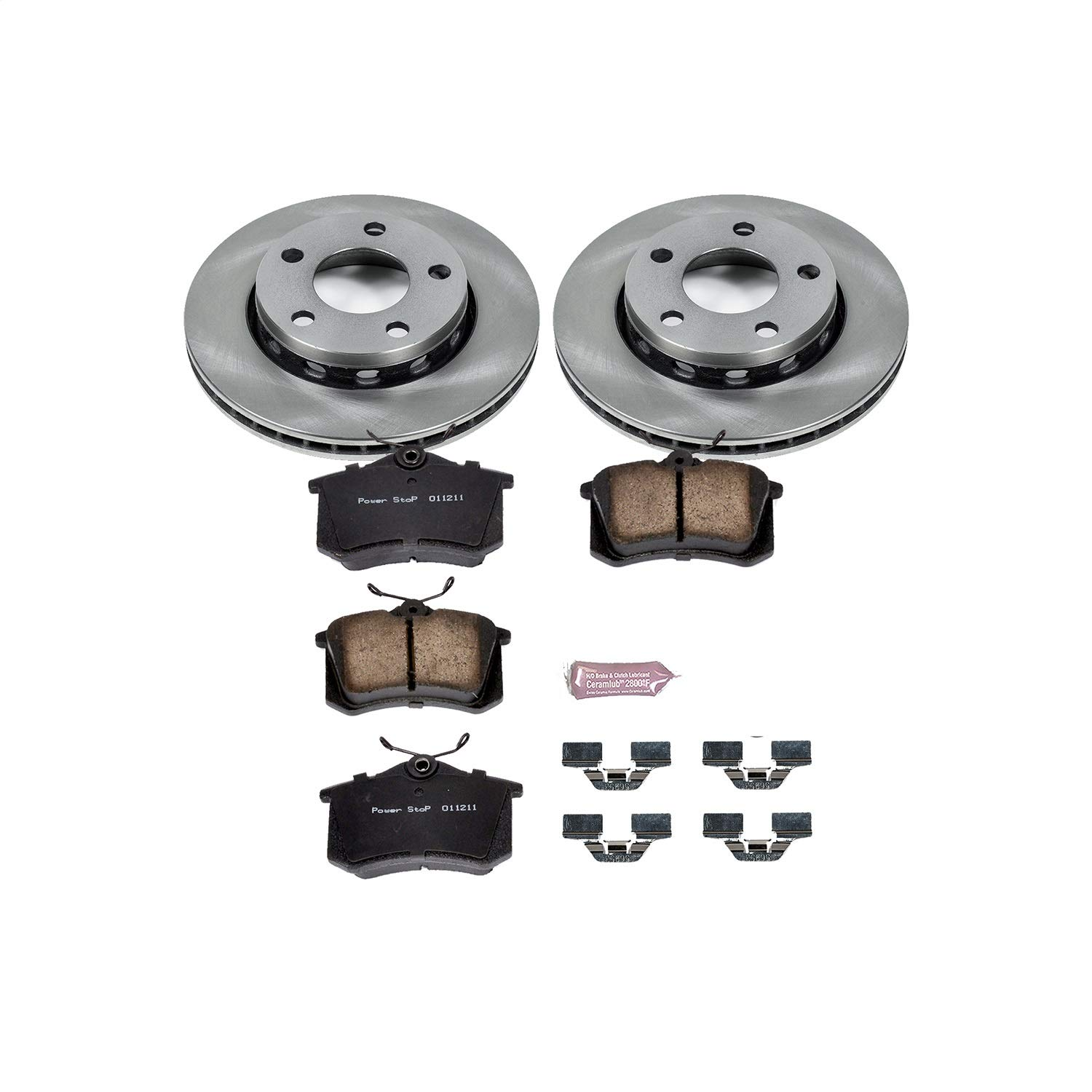 Power Stop KOE894 Autospecialty By Power Stop 1-Click Daily Driver Brake Kits Rear Incl OE Replacement Rotors w//Z16 Ceramic Scorched Brake Pads Autospecialty By Power Stop 1-Click Daily Driver Brake Kits 10.07 in