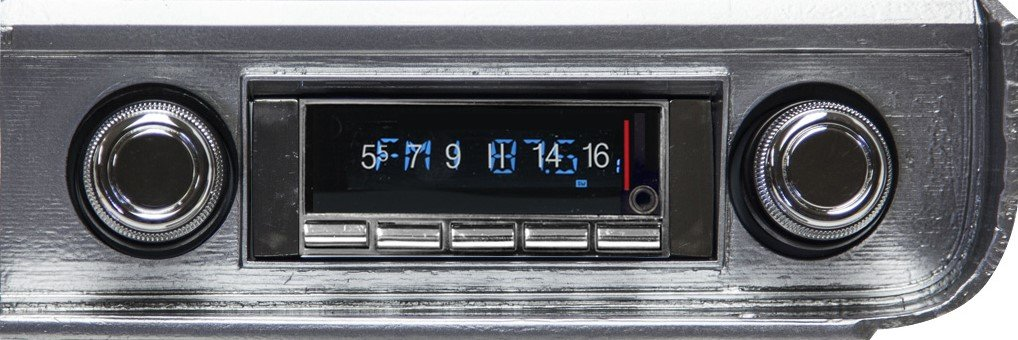 1965 Chevelle El Camino Chevrolet Chevelle 300 watt Custom Autosound USA-740 AM FM Car Stereo//Radio with built-in Bluetooth Color Change LCD Digital Display AUX Inputs