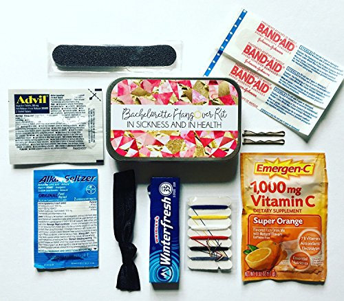 Complete Bachelorette Party Survival Kits - Filled - Favor Kit Tin