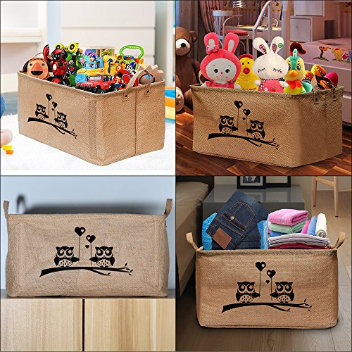 """Gimars X-Large Well Standing 26""""L x 15""""W x 15""""H Toy Chest Baskets Storage Bins for Dog Toys, Kids & Children Toys, Blankets, Clothes - Perfect for Playroom & Shelves"""