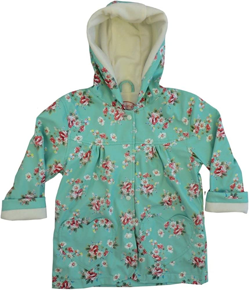 1-7 Years.Blue Powell Craft Girls Blue Floral Raincoat//Rain Mac