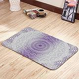 Moslion Doormats Grey Purple Ombre Mandala Holy Violet Rectangular Doormat Decorative Indoor/Outdoor Cover Rug 15.7 X 23.6 Inch