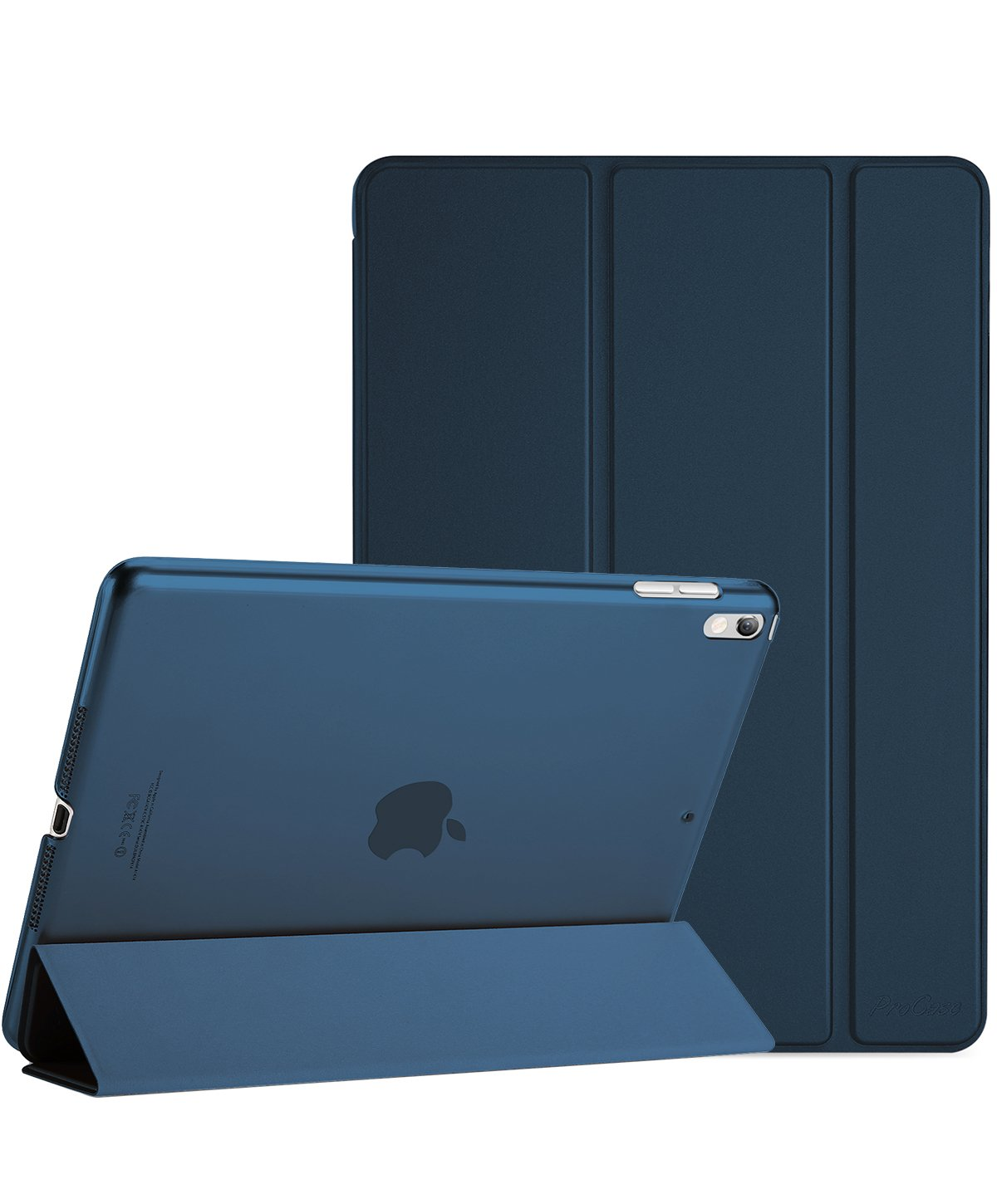 ProCase iPad Pro 10.5 Case 2017, Ultra Slim Lightweight Stand Smart Case Shell with Translucent Frosted Back Cover for Apple iPad Pro 10.5-Inch –Navy Blue by ProCase