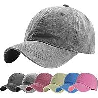 CheChury Gorra de Béisbol Unisex Vintage Gorra Trucker Algodón Snapback Ajustable Verano Sombrero de Sol Gorra Clásica…