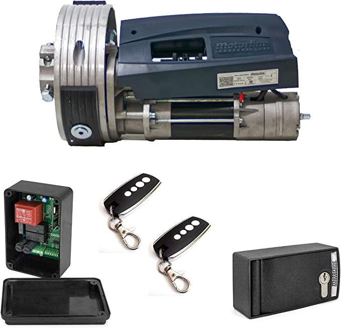 KIT MOTOR COMPLETO Motor para puertas enrollables y persianas met/álicas de hasta 170 Kg. para automatizaci/ón de puertas y persianas met/álicas enrollables ACM TITAN Automatismo